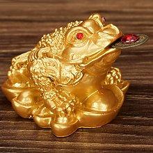 SM SunniMix Handcrafted Resin Feng Shui Money Frog