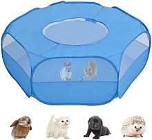 Small Animal Playpen, Pet Cage with Top Cover Anti