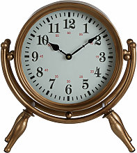 Small Antique Desk Clock / Wireframe Table Clocks