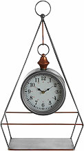 Small Antique Desk Clock With Pendulum / Wireframe