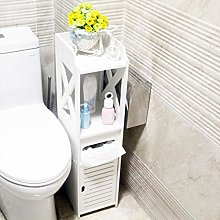 Small Bathroom Storage Corner Floor Cabinet with