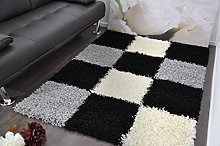 SMALL BLACK GREY AND WHITE STYLISH BOXED CHECKED