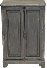Small black Pretoria wardrobe in wood