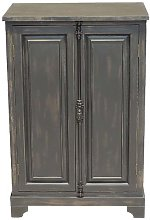 Small black Pretoria wardrobe in wood