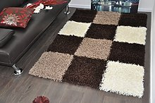 SMALL BROWN & BEIGE STYLISH BOXED CHECKED DESIGN