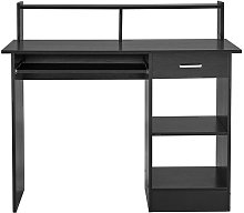 Small Computer Desk With Keyboard Tray 1 Drawer