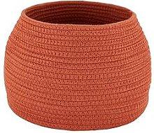 Small Cotton Rope Storage Basket - Burnt Orange