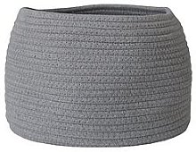 Small Cotton Rope Storage Basket - Grey