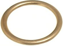SMALL Curtain Upholstery Rings Hollow Brass (Pack