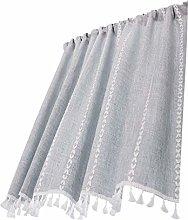 Small Curtains Blackout Cotton Linen Half Curtain