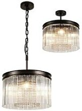 Small Cylindrical Ceiling Pendant, 5 Light E14,