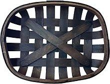 Small Dark Brown Tobacco Basket Farmhouse Wall