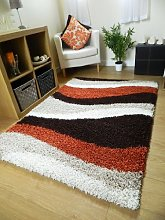SMALL EXTRA LARGE RUG NEW MODERN SOFT THICK BURNT