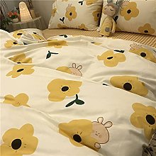 Small Fresh Duvet Cover - Yellow Quilt Cover