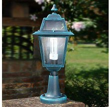 Small garden lamppost in aluminium and glass