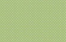 Small Green Polka Dot Spotty Vinyl Table Cover PVC