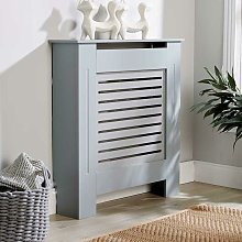 Small Grey Radiator Cover Wooden MDF Wall Cabinet