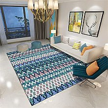 small grey rug Blue carpet, washable and