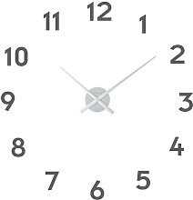 Small Hands Wall Clock NeXtime Colour: Silver