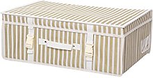 Small Ivory Gold Stripes Wedding Breathable Bridal