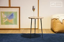 Small marble side table Vilma