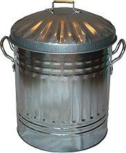 Small Medium Large Galvanised Metal Bin - Rubbish