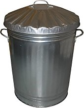 Small Medium Large Galvanised Metal Bin - Rubbish
