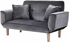 Small Modern and Simple Gray Sofa Linen Fabric