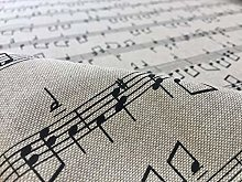 SMALL MUSIC NOTES Designer Curtain Upholstery