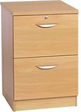 Small Office 2 Drawer Filing Cabinet, Classic Oak