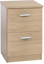Small Office 2 Drawer Filing Cabinet, Sandstone