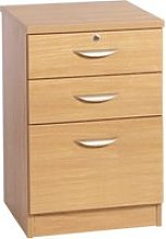Small Office 3 Drawer Filing Cabinet, Classic Oak
