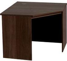 Small Office Corner Desk (Walnut)