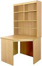 Small Office Corner Desk With Hutch Bookcase