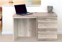 Small Office Desk Set With 2 Standard Drawers & 1