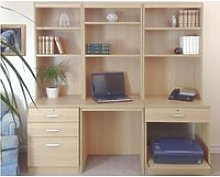 Small Office Desk Set With 3+1 Drawers, Printer