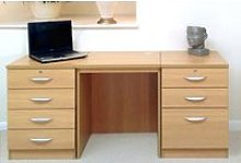 Small Office Desk Set With 4+3 Drawers (Classic