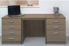 Small Office Desk Set With 4+3 Drawers (English