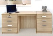 Small Office Desk Set With 4+3 Drawers
