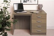 Small Office Desk Set With 4 Standard Drawers