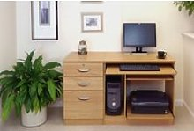 Small Office Desk Set With Computer Workstation &