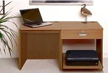 Small Office Desk Set With Single Drawer & Printer