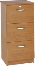 Small Office Mid Height 3 Drawer Filing Cabinet,
