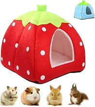 Small Pet Winter House Multi-Function Strawberry