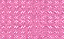 Small Pink Polka Dot Spotty Vinyl Table Cover PVC