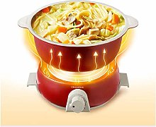 Small Power Mini Electric Cooker Dormitory Pot@red