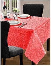 Small Red Jacquard Tablecloth Cover Tableware