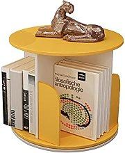 Small Rotating 360° Desktop Bookshelf Bamboo