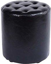 Small Round Stool Footstool Waterproof Pu Leather