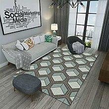 small rug for bedroom Blue carpet, 3D